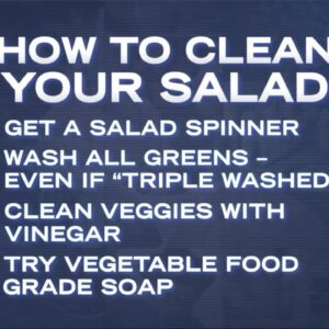 How to Wash Your Greens and Salads to Avoid Worms!